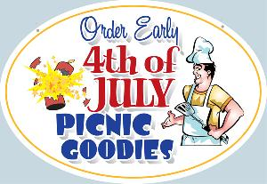 Fourth of July Catering Sign