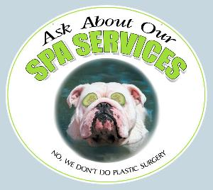 Pet Spa Services Sign