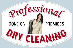 Professional Dry Cleaning Sign