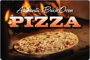 Brick Oven Pizza Sign