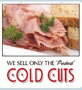Cold Cuts Sign