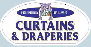 Curtains and Drapes Cleaned Sign