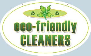 Eco Friendly Cleaners Sign