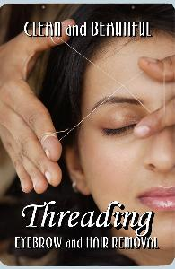Eyebrow Threading Sign
