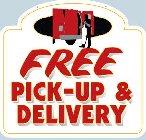 Dry Cleaner Pick-up & Delivery Sign