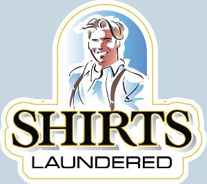Shirts Laundered Sign