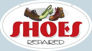 Shoes Repaired Sign