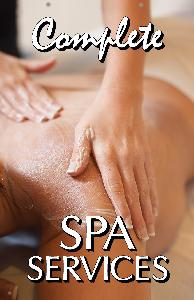 Spa Services Sign