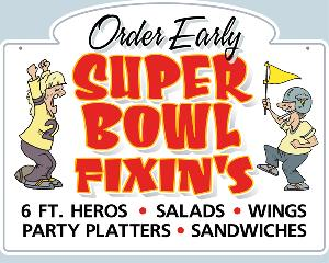 Super Bowl Catering Sign
