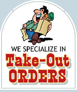 Take Out Orders Sign