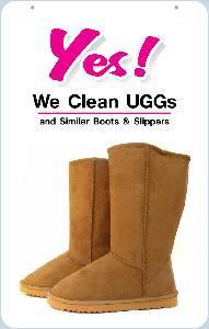 We Clean Uggs Sign