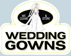 Wedding Gowns Cleaned Sign