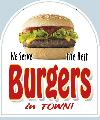 The Best BURGERS Sign<br>#4034-A--HARD PANEL