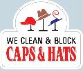 CAPS & HATS<br>CLEAN & BLOCK Sign<br>#1024-A--HARD PANEL