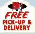 FREE PICK-UP<br>& DELIVERY Sign<br>#1004-A--HARD PANEL