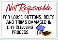 NOT RESPONSIBLE Damaged Items Sign<br>#1039-A--HARD PANEL
