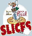 PIZZA SLICES Sign<br>#3004-A--HARD PANEL
