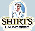 SHIRTS LAUNDERED Sign<br>#1014-A--HARD PANEL