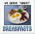 We serve BREAKFAST Sign<br>#4007-A--HARD PANEL